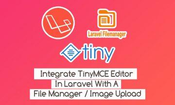 laravel image upload tinymce